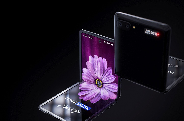 Lộ diện concept rõ nét nhất của Samsung Galaxy Z Flip - Ảnh 2.