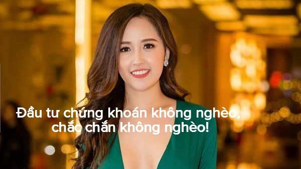 Hoa hậu Mai Phương Thúy và những câu nói 'cực chất' về đầu tư chứng khoán - Ảnh 3.