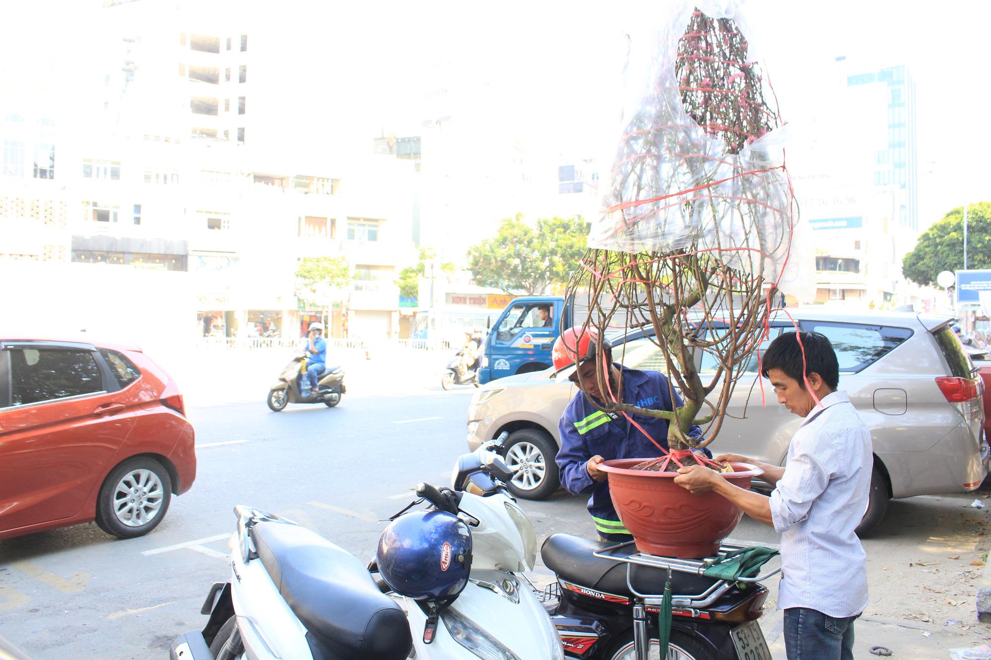 28 Tết, đào Nhật Tân tại chợ hoa Sài Gòn bắt đầu giảm giá, thuận mua vừa bán nên hút khách - Ảnh 9.