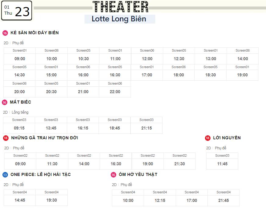 Lịch chiếu phim ngày mai (23/1) tại các rạp Lotte Hà Nội - Ảnh 5.