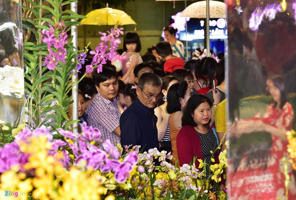 Biển người chen nhau chụp hình ở đường hoa Nguyễn Huệ - Ảnh 5.