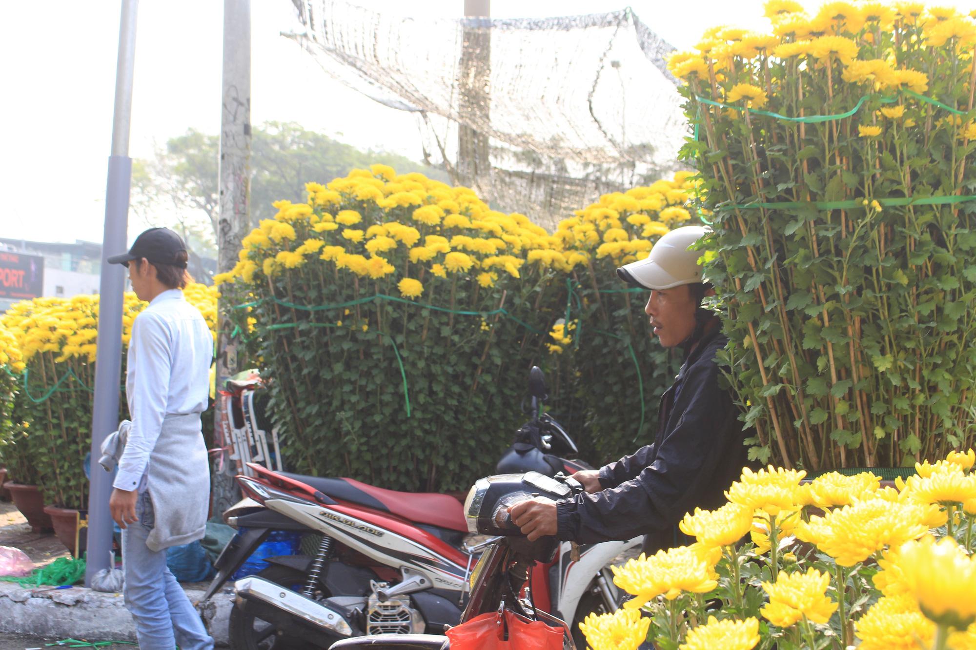 Xe ôm nghỉ việc, chở hoa Tết kiếm tiền triệu mỗi ngày  - Ảnh 2.