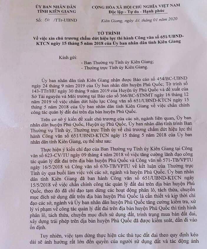 Kiên Giang xin chủ trương bỏ lệnh tạm dừng phân lô, tách thửa ở Phú Quốc - Ảnh 1.