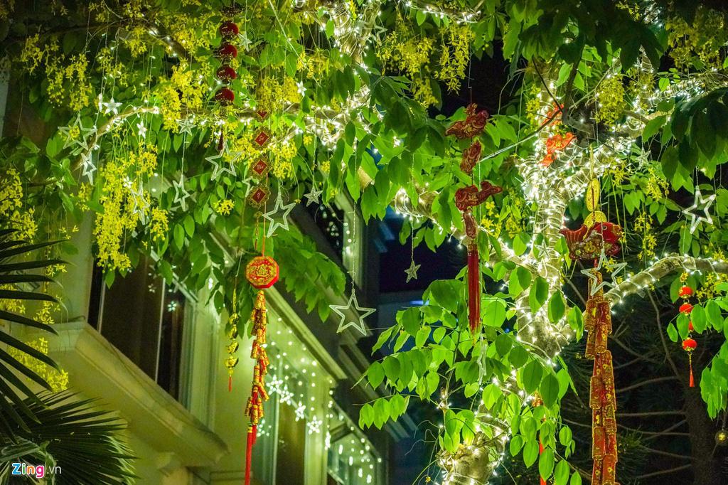 Cảnh trang hoàng đón Tết tại phố nhà giàu TP HCM - Ảnh 3.