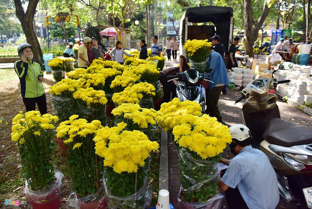 Đổ xô mua hoa Tết đại hạ giá ở trung tâm TP.HCM - Ảnh 6.