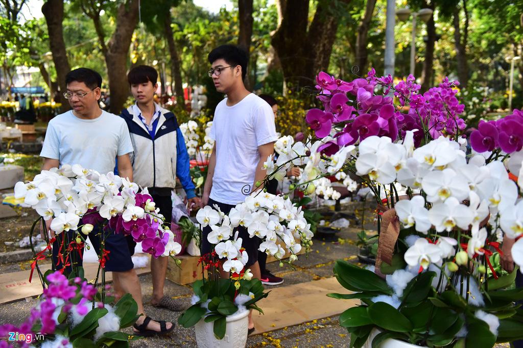 Đổ xô mua hoa Tết đại hạ giá ở trung tâm TP.HCM - Ảnh 9.