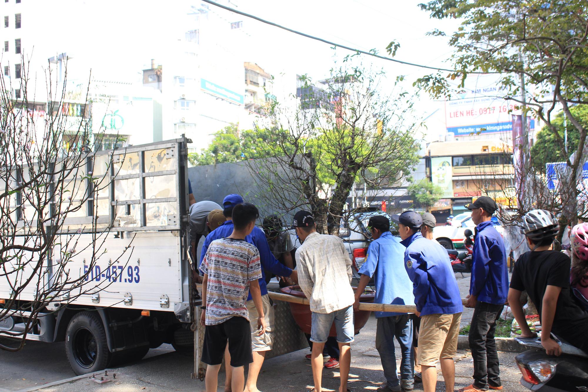 Trưa 30 Tết, mai, đào, hướng dương bán rẻ như cho 50.000 đồng một cây ở chợ hoa Sài Gòn - Ảnh 8.