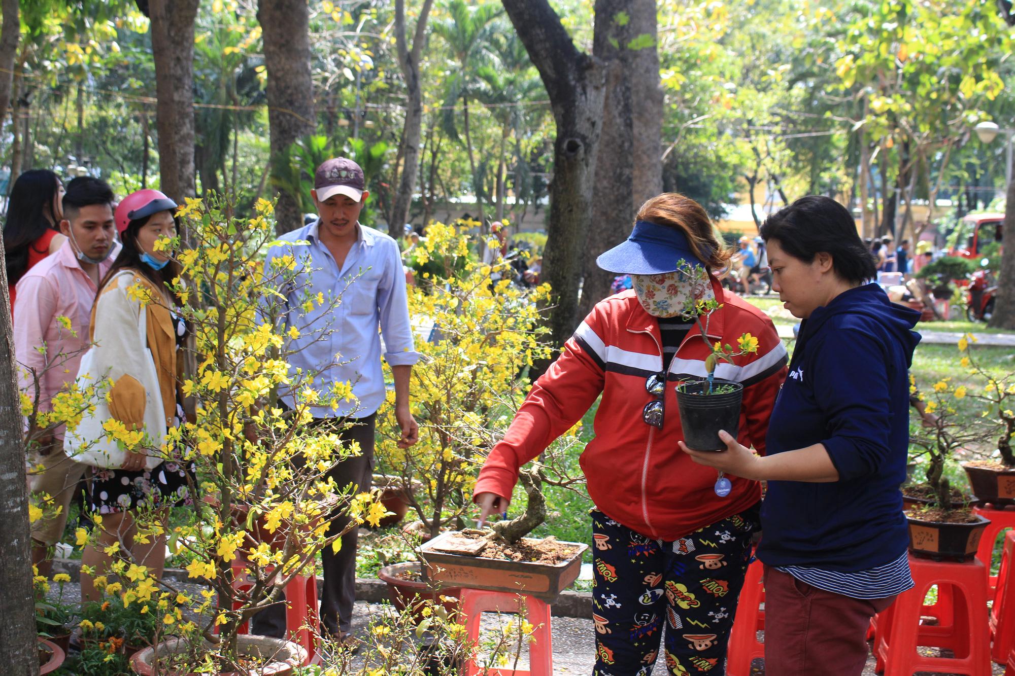 Trưa 30 Tết, mai, đào, hướng dương bán rẻ như cho 50.000 đồng một cây ở chợ hoa Sài Gòn - Ảnh 10.