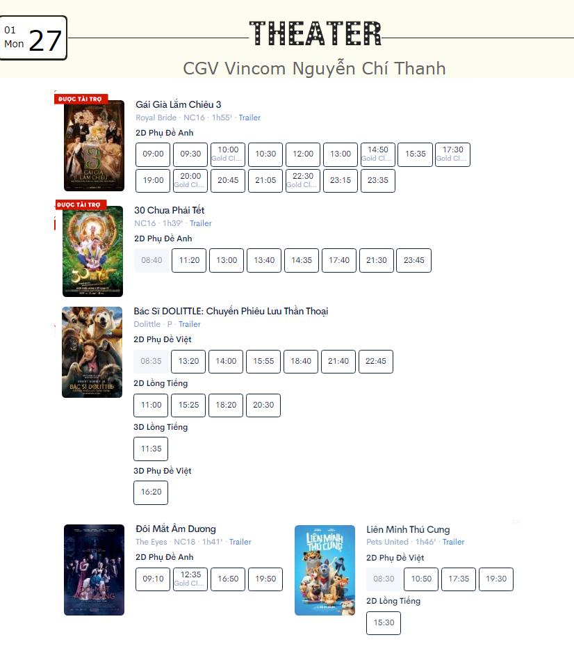 Lịch chiếu phim ngày mai (27/1) mùng 3 Tết tại một số rạp CGV Hà Nội - Ảnh 5.