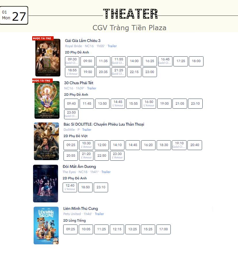 Lịch chiếu phim ngày mai (27/1) mùng 3 Tết tại một số rạp CGV Hà Nội - Ảnh 6.