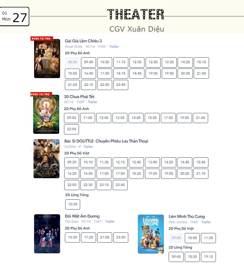 Lịch chiếu phim ngày mai (27/1) mùng 3 Tết tại một số rạp CGV Hà Nội - Ảnh 11.