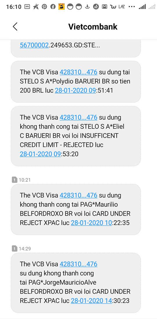 Vietcombank nói gì khi khách báo mất tiền trong thẻ VISA mùng 4 Tết? - Ảnh 2.