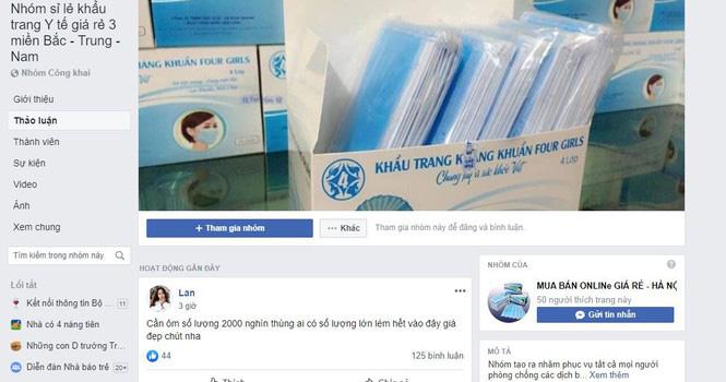 Tạm giữ 143.000 khẩu trang được mua gom với giá hơn 1 tỉ đồng qua Facebook - Ảnh 1.