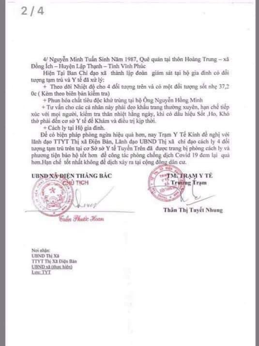 Quảng Nam đang cách li 4 người đến từ vùng dịch Covid-19 Vĩnh Phúc  - Ảnh 3.