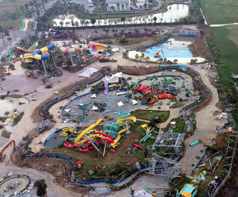 Hà Nội yêu cầu thanh tra việc phá dỡ công viên nước Thanh Hà - Ảnh 1.