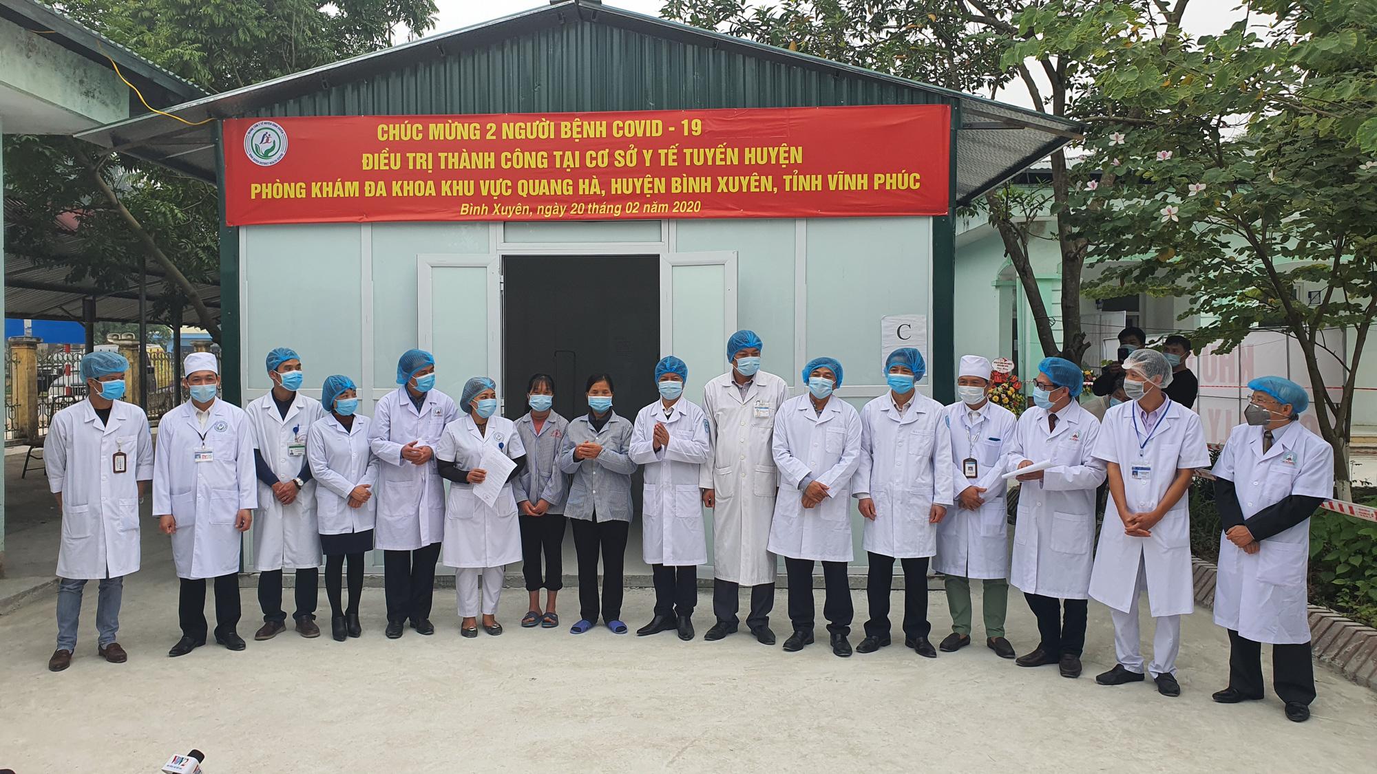 Thêm 2 người nhiễm Covid-19 ở Vĩnh Phúc xuất viện - Ảnh 2.