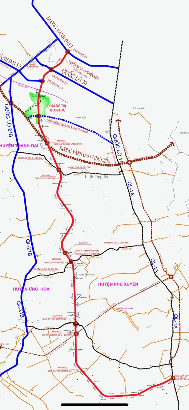 Những dự án 'đón' qui hoạch đường trục Tây Nam Hà Nội qua KĐT Thanh Hà - Ảnh 1.