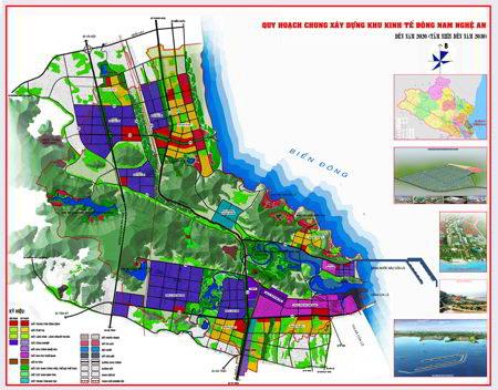 Phê duyệt điều chỉnh tổng thể Qui hoạch chung xây dựng Khu kinh tế Đông Nam Nghệ An - Ảnh 1.