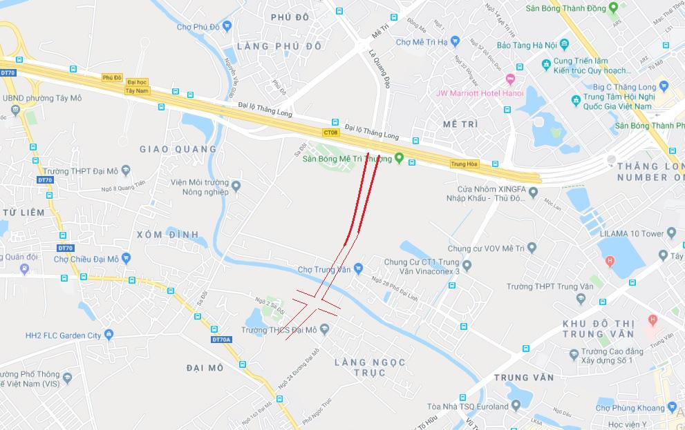 Qui hoạch giao thông Hà Nội: 4 đường sẽ mở ở phường Mễ Trì, Nam Từ Liêm - Ảnh 1.