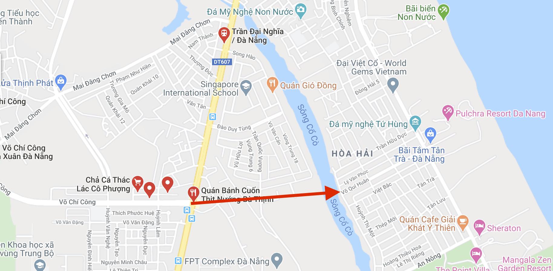 Cận cảnh nơi Đà Nẵng làm cầu, đường qua sông Cổ Cò, đường vành hơn 1.400 tỉ đồng - Ảnh 1.