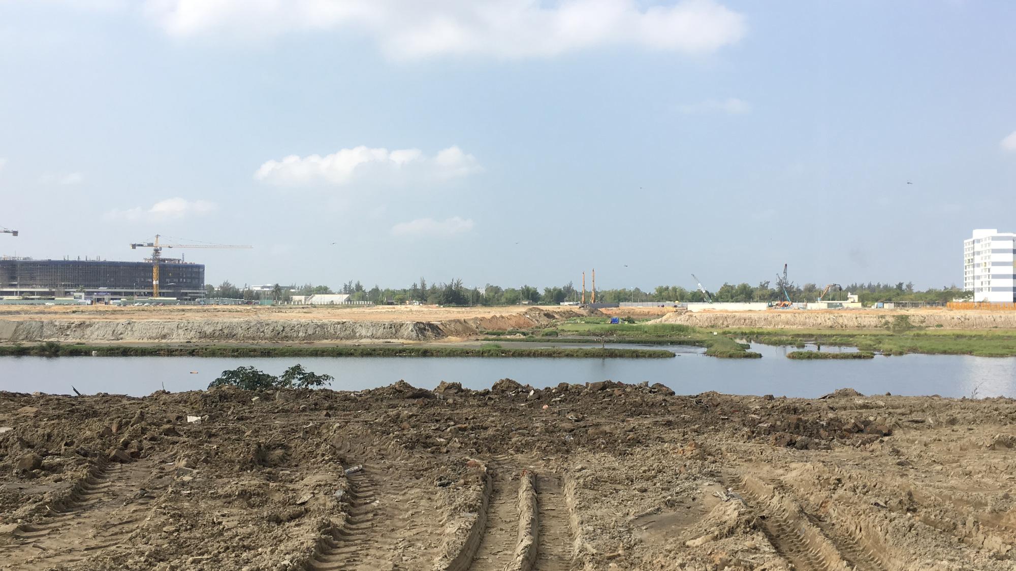 Cận cảnh nơi Đà Nẵng làm cầu, đường qua sông Cổ Cò, đường vành hơn 1.400 tỉ đồng - Ảnh 8.
