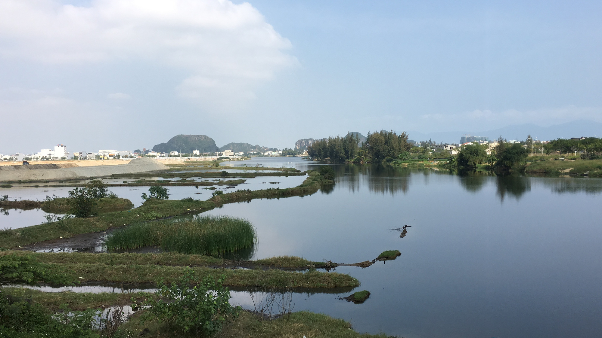 Cận cảnh nơi Đà Nẵng làm cầu, đường qua sông Cổ Cò, đường vành hơn 1.400 tỉ đồng - Ảnh 7.
