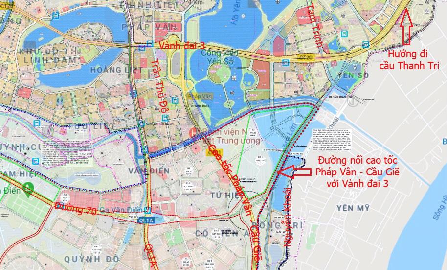 Những dự án hưởng lợi từ đường nối cao tốc Pháp Vân - Cầu Giẽ với Vành đai 3 - Ảnh 2.