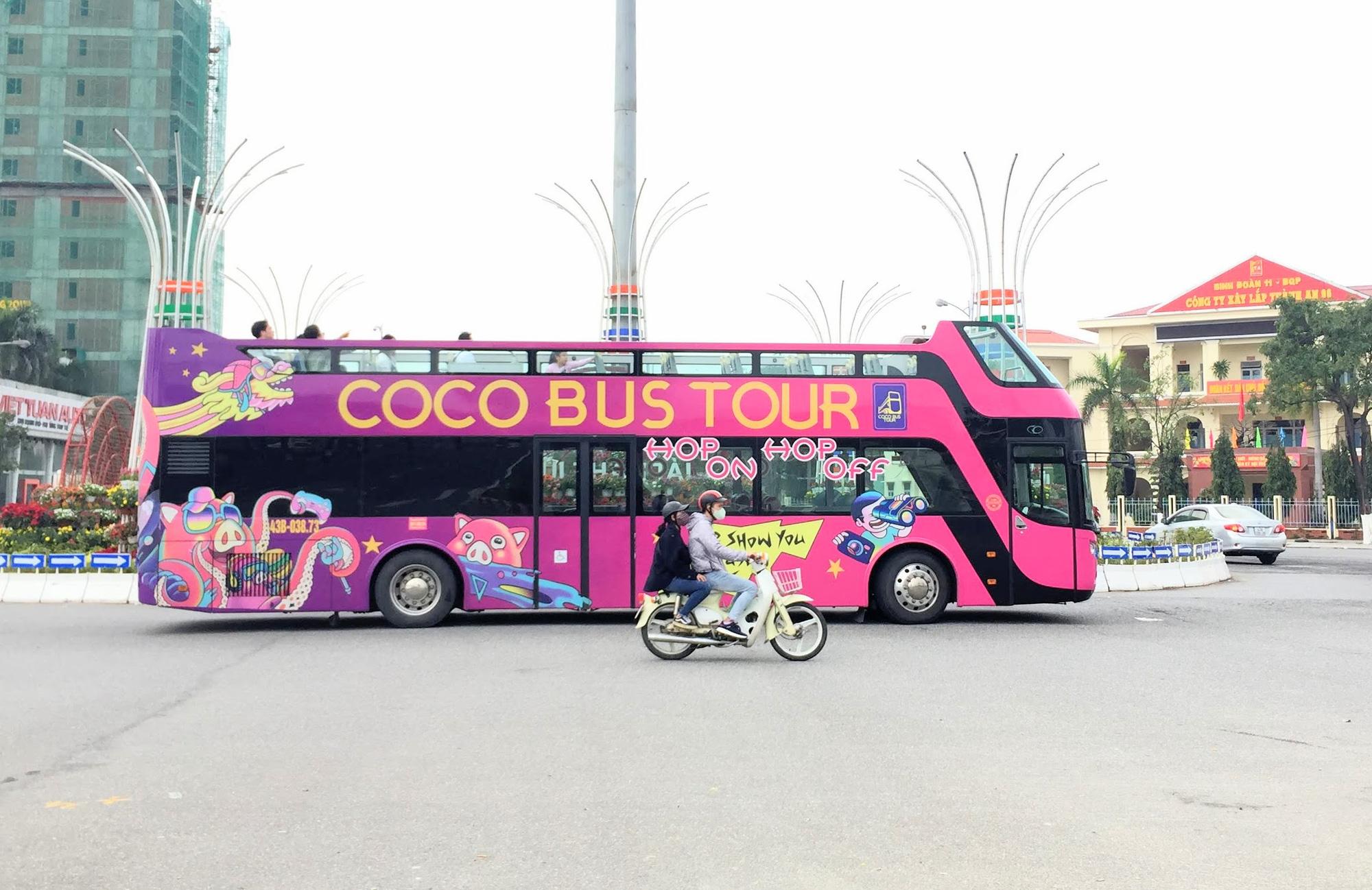 Đà Nẵng tạm ngưng tuyến xe buýt mui hở N1, N2 để chống dịch virus corona - Ảnh 1.