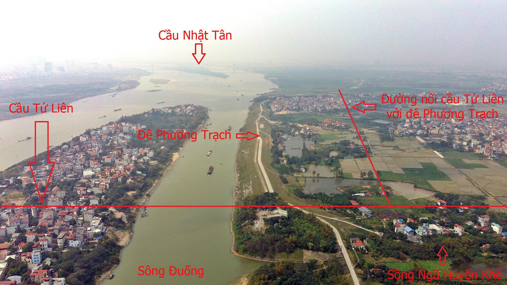 Cầu sẽ mở theo qui hoạch: Toàn cảnh cầu Tứ Liên nối hồ Tây với Đông Anh - Ảnh 4.