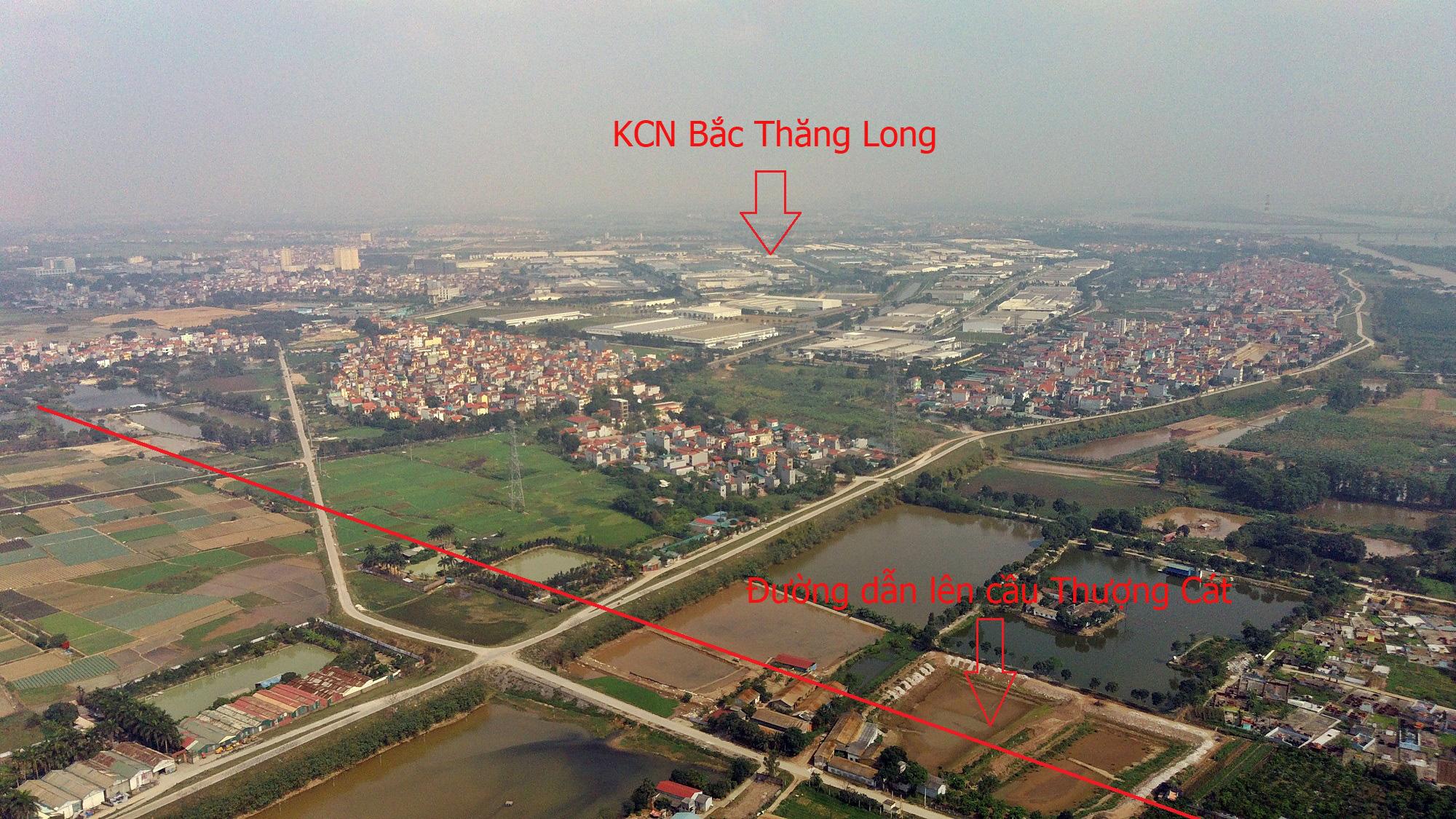 Cầu sẽ mở theo qui hoạch ở Hà Nội: Toàn cảnh cầu Thượng Cát nối Bắc Từ Liêm với Đông Anh - Ảnh 12.