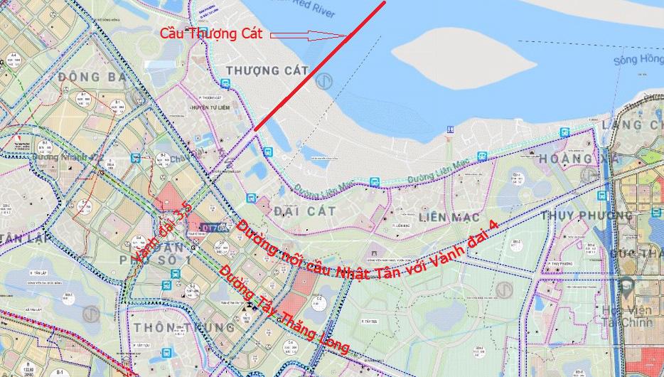 Cầu sẽ mở theo qui hoạch ở Hà Nội: Toàn cảnh cầu Thượng Cát nối Bắc Từ Liêm với Đông Anh - Ảnh 5.