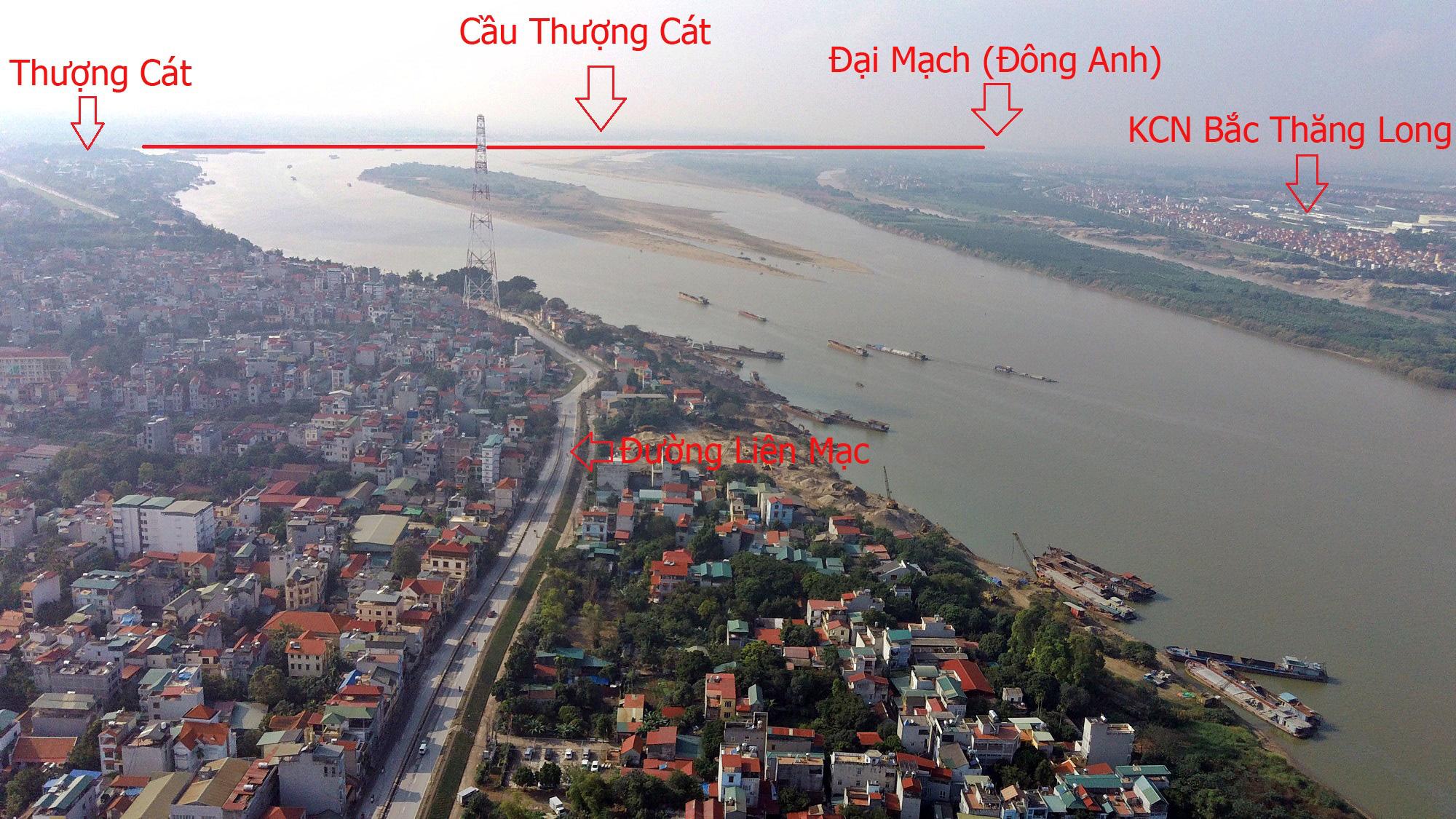 Cầu sẽ mở theo qui hoạch ở Hà Nội: Toàn cảnh cầu Thượng Cát nối Bắc Từ Liêm với Đông Anh - Ảnh 17.