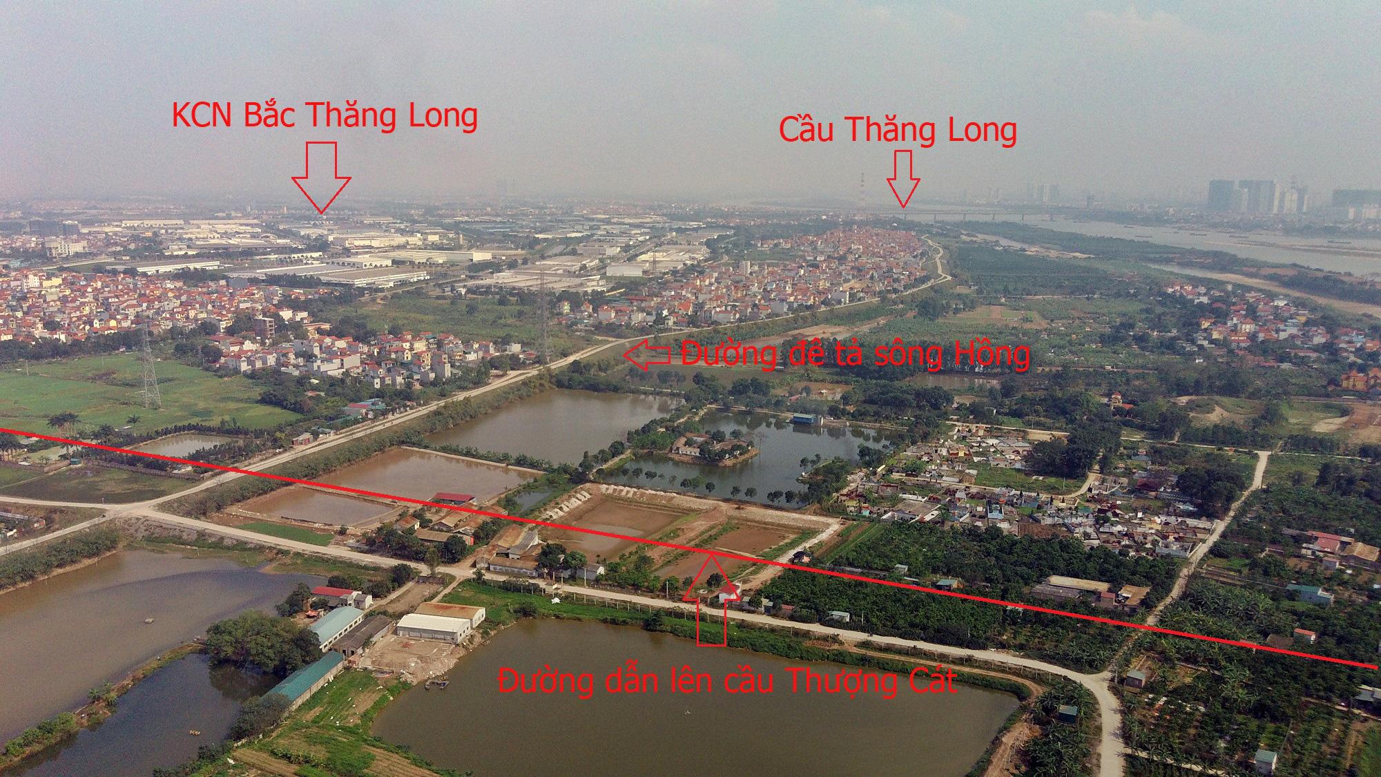 Cầu sẽ mở theo qui hoạch ở Hà Nội: Toàn cảnh cầu Thượng Cát nối Bắc Từ Liêm với Đông Anh - Ảnh 11.