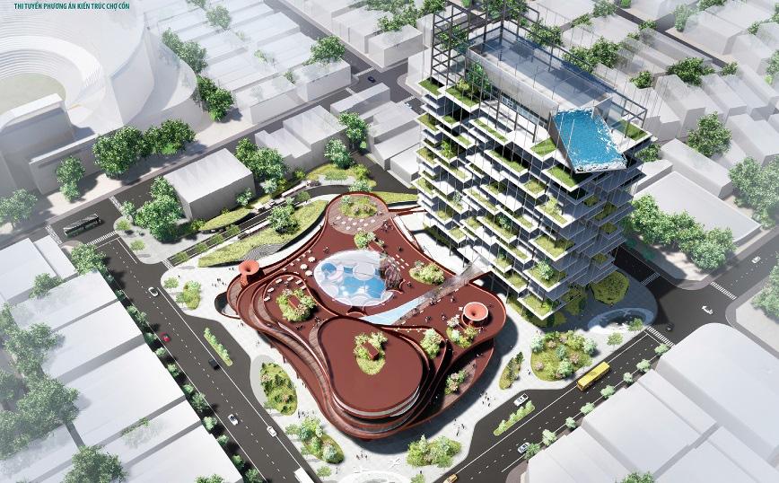 Đà Nẵng công bố các mẫu thiết kế phương án kiến trúc Chợ Cồn - Ảnh 13.