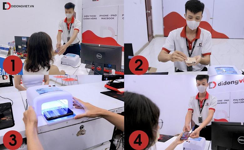 Dịch vụ khử khuẩn điện thoại bằng tia UV miễn phí phòng Covid-19 tại TPHCM - Ảnh 3.