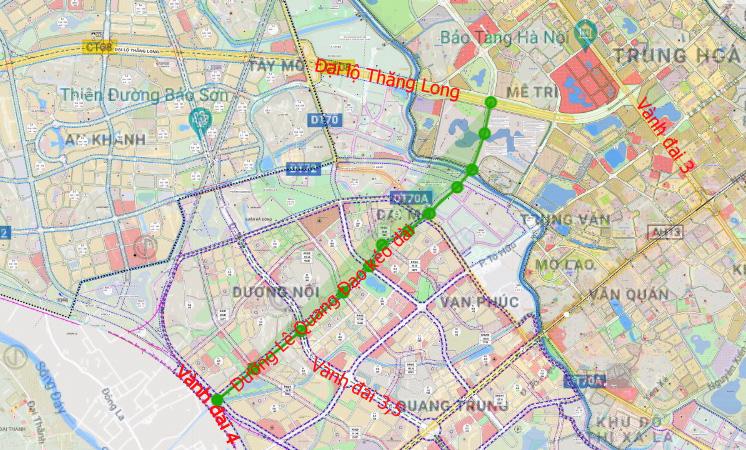 Đường sẽ mở theo qui hoạch ở Hà Nội: Toàn cảnh đường Lê Quang Đạo kéo dài qua KĐT Dương Nội - Ảnh 1.