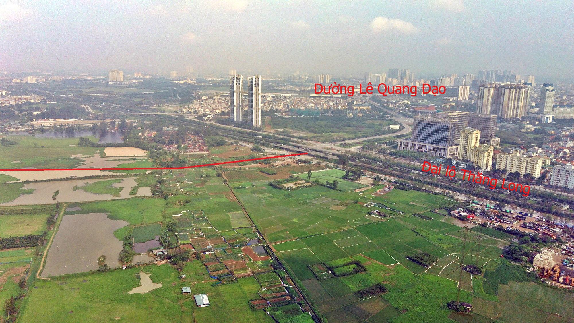 Đường sẽ mở theo qui hoạch ở Hà Nội: Toàn cảnh đường Lê Quang Đạo kéo dài qua KĐT Dương Nội - Ảnh 2.