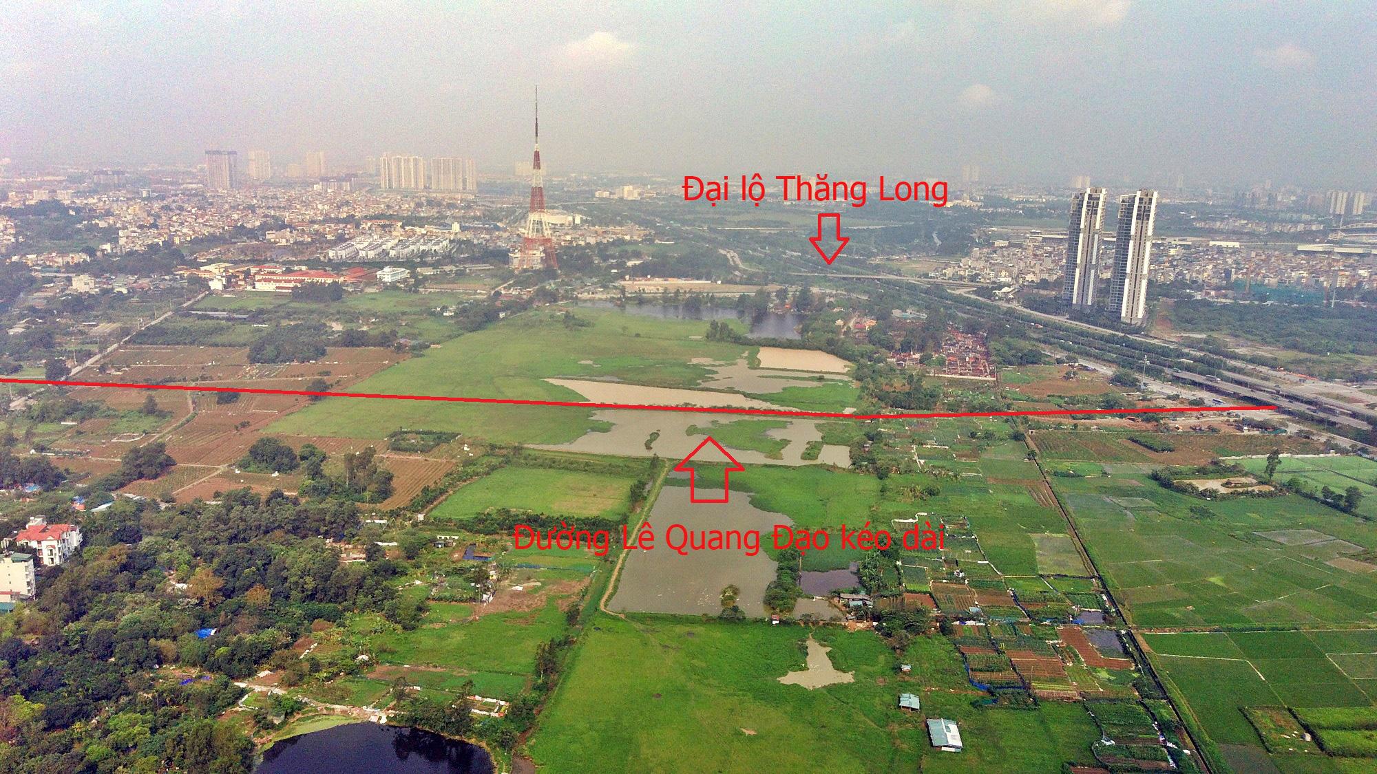 Đường sẽ mở theo qui hoạch ở Hà Nội: Toàn cảnh đường Lê Quang Đạo kéo dài qua KĐT Dương Nội - Ảnh 3.