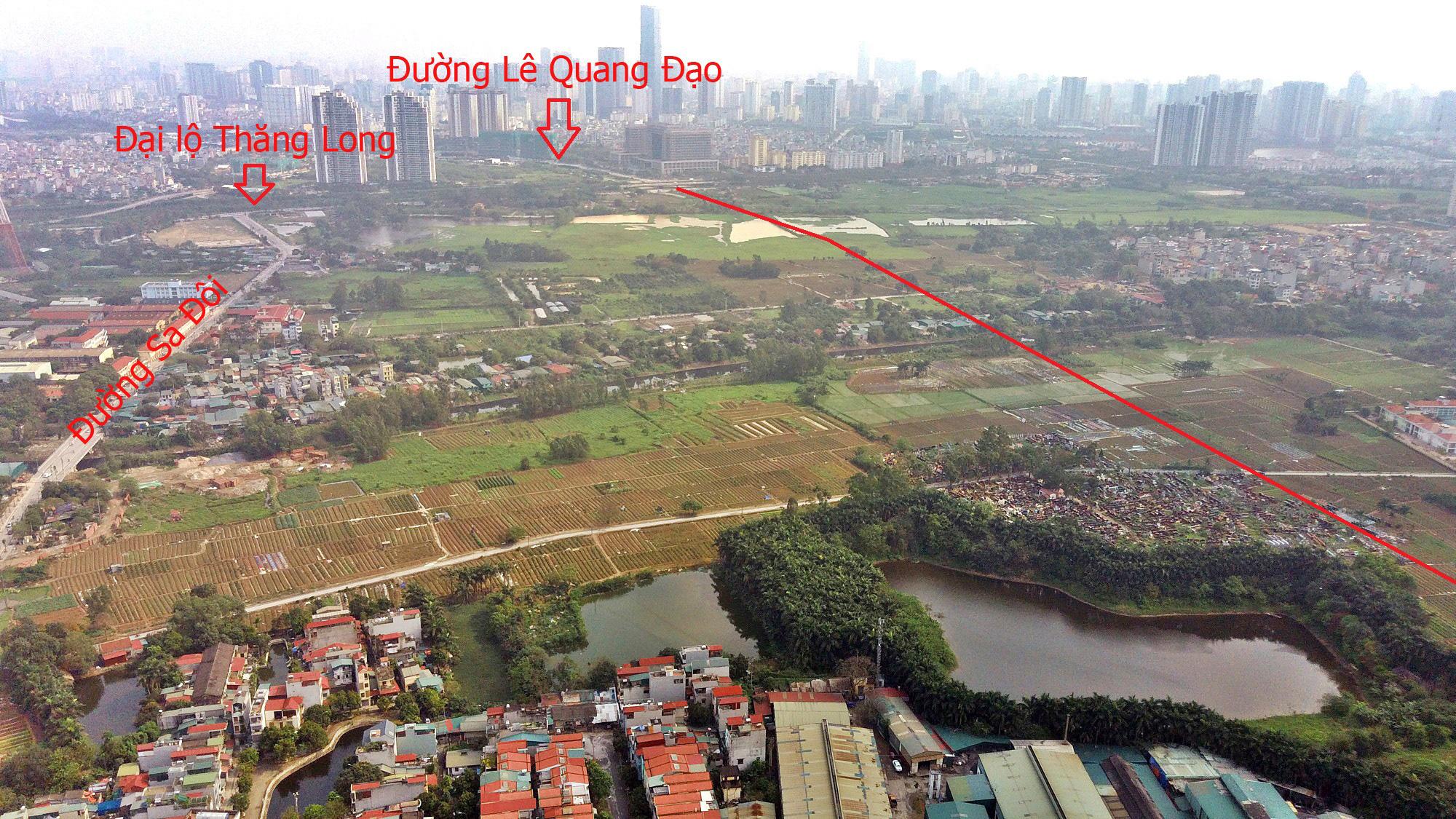 Đường sẽ mở theo qui hoạch ở Hà Nội: Toàn cảnh đường Lê Quang Đạo kéo dài qua KĐT Dương Nội - Ảnh 6.