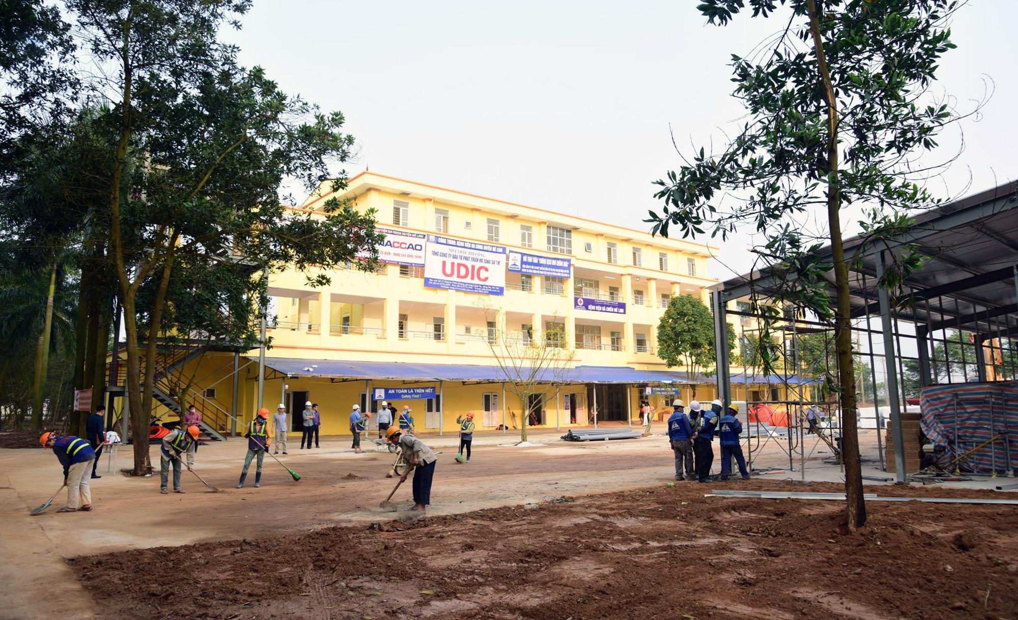 Hà Nội sửa xong bệnh viện bỏ hoang ở Mê Linh làm khu cách li chống dịch Covid-19 - Ảnh 16.