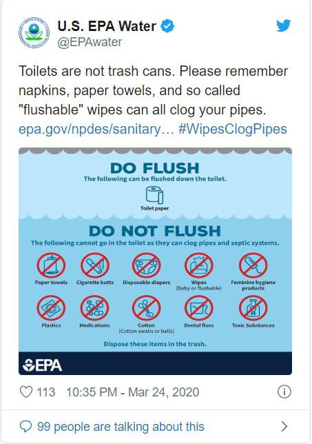 Thiếu giấy vệ sinh, dân Mỹ xả khăn vải, giấy ăn làm tắc cống nước - Ảnh 2.