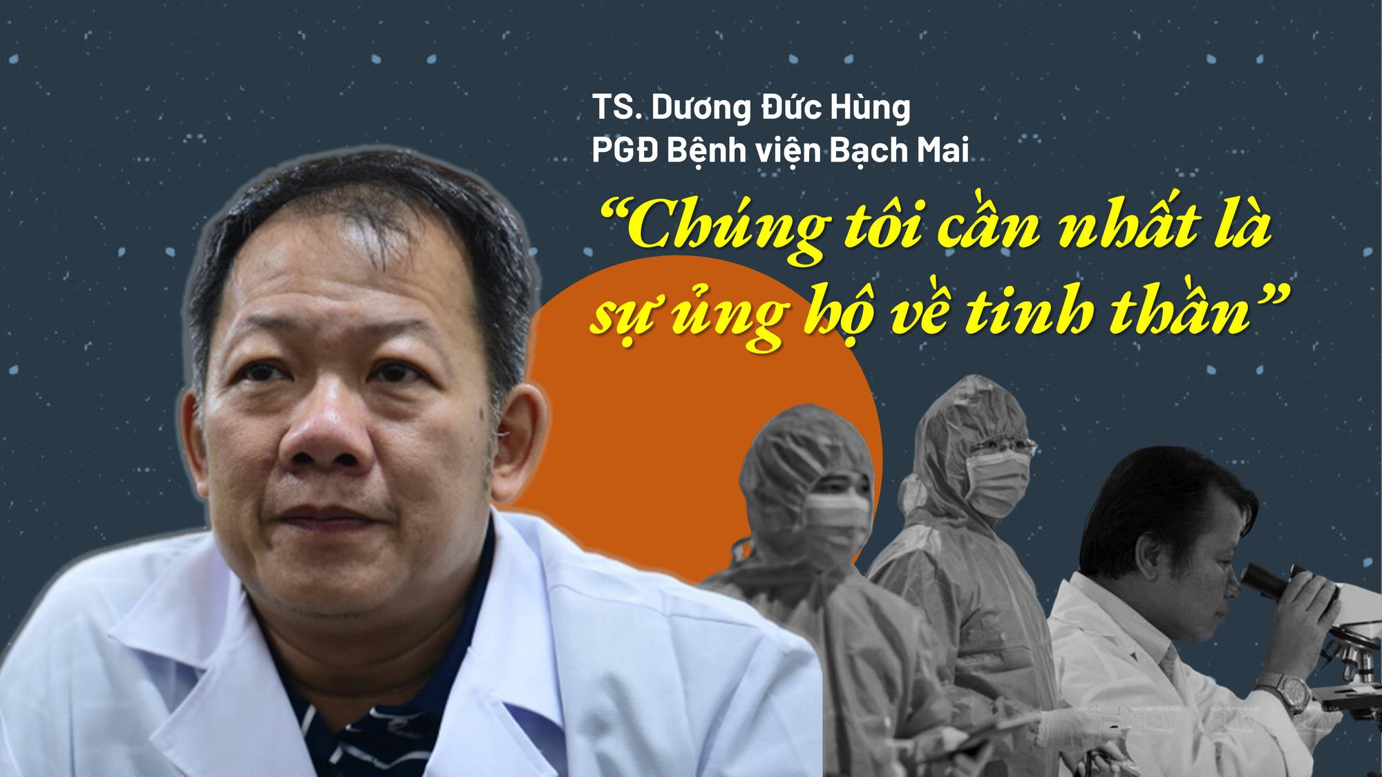 Lãnh đạo Bệnh viện Bạch Mai: 'Chúng tôi cần nhất là sự ủng hộ về tinh thần' - Ảnh 1.