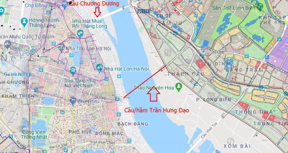 Cầu sẽ mở theo qui hoạch ở Hà Nội: Toàn cảnh cầu/hầm Trần Hưng Đạo nối quận Hoàn Kiếm - Long Biên - Ảnh 2.