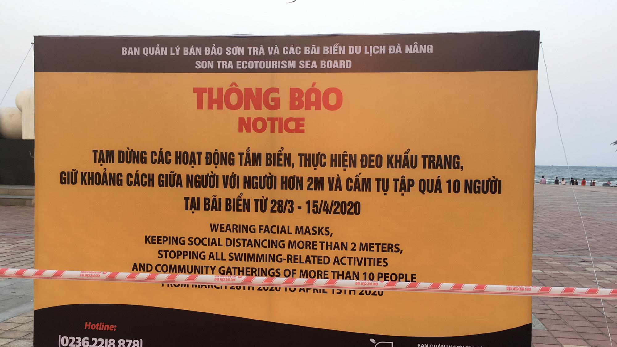 Ven biển Đà Nẵng bị rào chắn hơn 1km, các dịch vụ ngừng hoạt động hàng loạt để phòng dịch Covid-19 - Ảnh 1.