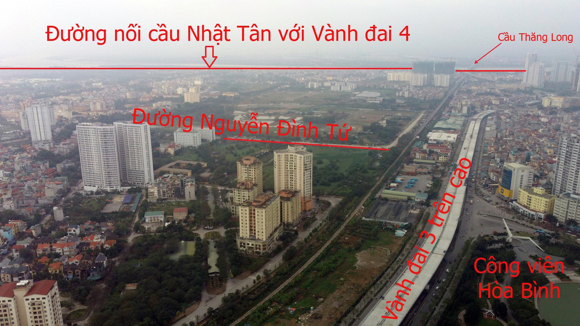 Đường sẽ mở theo qui hoạch: Toàn cảnh đường nối cầu Nhật Tân với Vành đai 4 - Ảnh 8.