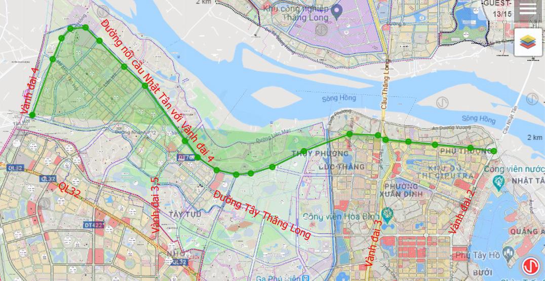 Đường sẽ mở theo qui hoạch: Toàn cảnh đường nối cầu Nhật Tân với Vành đai 4 - Ảnh 1.