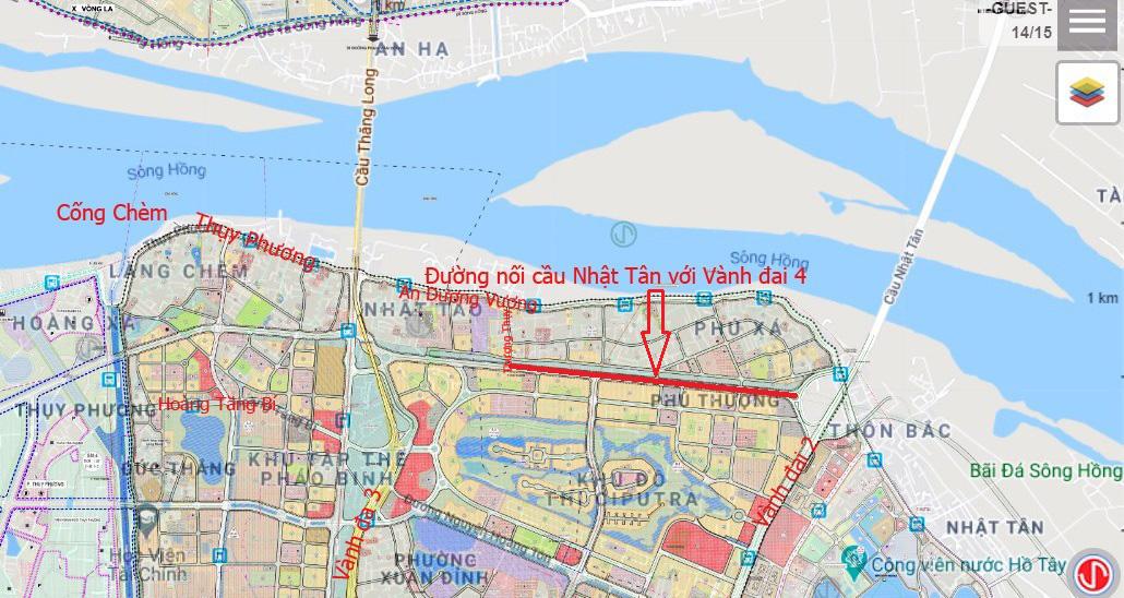 Đường sẽ mở theo qui hoạch: Toàn cảnh đường nối cầu Nhật Tân với Vành đai 4 - Ảnh 3.