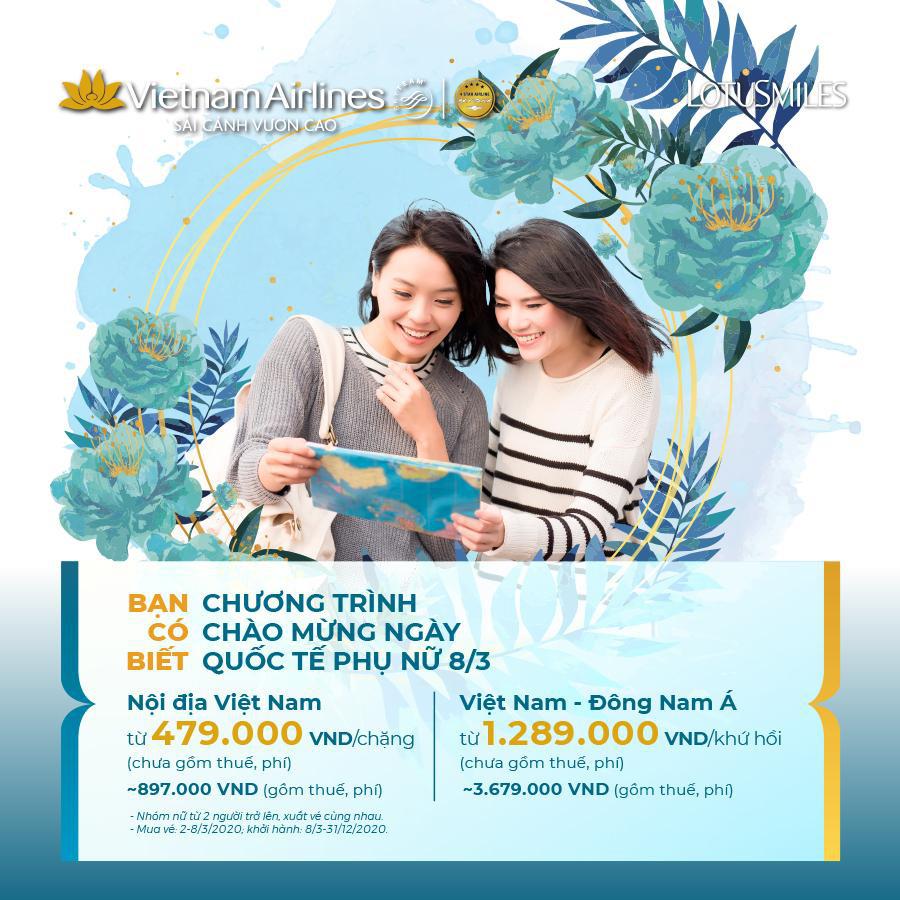 Vietnam Airlines tung chương trình ưu đãi đặc biệt nhân ngày Quốc tế phụ nữ 8/3  - Ảnh 1.