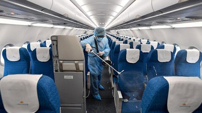 Máy bay chở nữ hành khách nhiễm Covid-19 đã được khử trùng. (Ảnh minh hoạ: VNA).