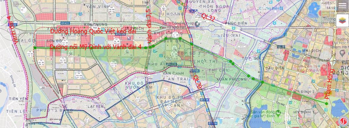 Đường sẽ mở theo qui hoạch: Toàn cảnh đường nối Mỹ Đình với Vành đai 4 - Ảnh 1.